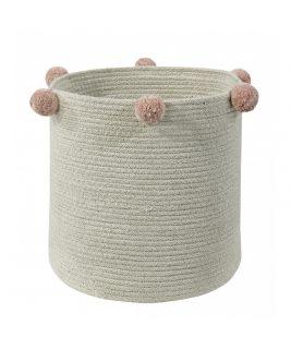 Kosz Natural Nude, 100% bawełna 30x30x30cm,  Lorena Canals