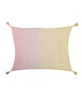 Kocyk niemowlęcy Ombré Vanilla-Soft Pink, 100% bawełna 100x120cm,  Lorena Canals