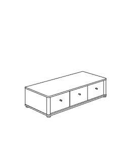 Szafka-siedzisko 3 szuflady PAIDI FLEXIMO