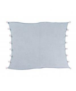 Kocyk niemowlęcy Bubbly Soft Blue, 100% bawełna 100x120cm,  Lorena Canals