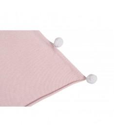 Kocyk niemowlęcy Bubbly Soft Pink, 100% bawełna 100x120cm,  Lorena Canals