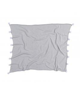 Kocyk niemowlęcy Bubbly Light Grey, 100% bawełna 100x120cm,  Lorena Canals