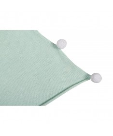 Kocyk niemowlęcy Bubbly Mint, 100% bawełna 100x120cm,  Lorena Canals