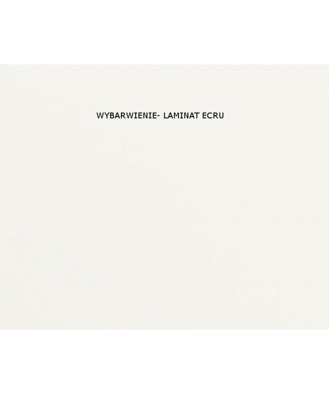 Biurko Tablo ecru, dodatki lazurowy błękit, szuflada osobno