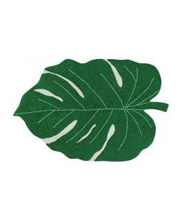 Dywan Monstera Leaf, 100% bawełny, do prania w pralce, 120x160cm Lorena Canals