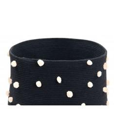 Kosz Basket Pebbles Black, 100% bawełna 30x45x45cm,  Lorena Canals