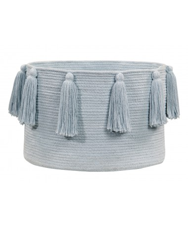 Kosz Basket Tassels Soft Blue