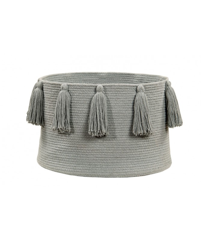 Kosz Basket Tassels Light Grey