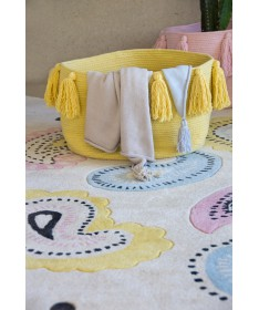Kosz Basket Tassels Yellow