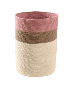 Kosz Basket Bazaar Ash Rose, 100% bawełna Ø35x50cm,  Lorena Canals
