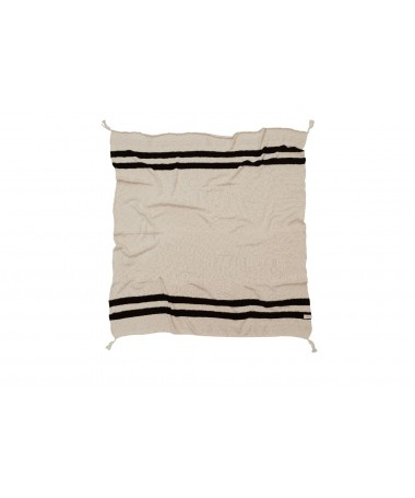 Dzianinowy koc Stripes Natural/Black,   Lorena Canals