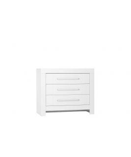 Biała Komoda 3-szufladowa Calmo PINIO