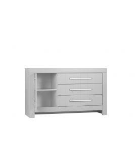 Szara Komoda 3-szuflady + 1 drzwi