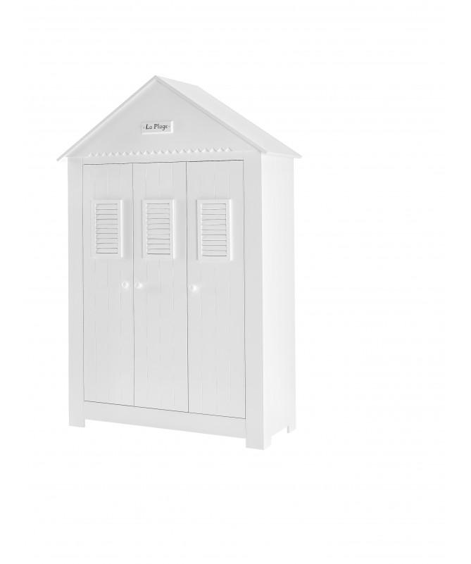 Biała Szafa 3-drzwiowa Marsylia PINIO