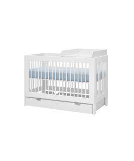 Biały Przewijak do łóżeczka 120x60 (MDF) Basic PINIO