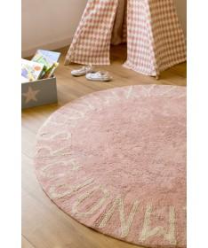 Dywan ABC Vintage Nude  Natural  100% bawełny, do prania w pralce, fi 150 cm, Lorena Canals
