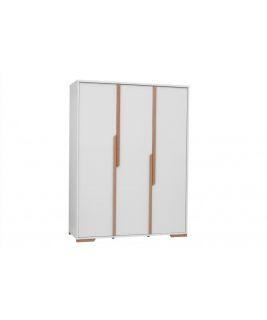 Biała Szafa 3-drzwiowa Snap