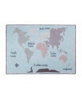 Dywan Bawełniany Vintage Map