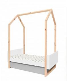 Łóżeczko 70x140 z szufladą rozsuwane do 160 cm PINETTE Bellamy