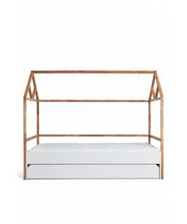 Łóżko domek 90x200 z szufladą LOTTA WHITE Bellamy