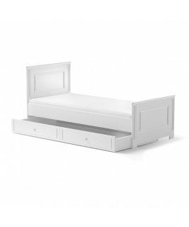 Łóżko 90x200 z szufladą INES ELEGANT WHITE Bellamy