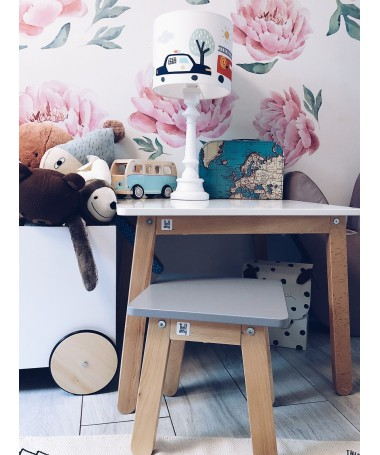 Stolik i krzesło Woody table&stool DUSTY PINK Bellamy