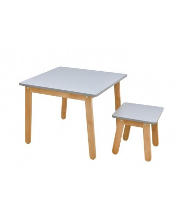 Stolik i krzesło Woody table&stool GRAY Bellamy