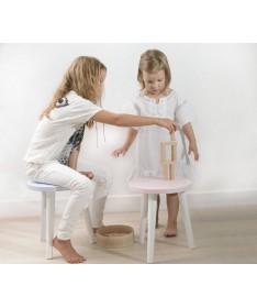 Taboret okrągły dziecięcy AURORA MoonWood buk/dąb/biały/szary/grafit/dąb/buk