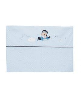 Zestaw: prześcieradło i poszewka na poduszkę HELLO Sauthon