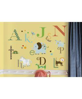 Naklejki ścienne zwierzęcy alfabet, RoomMates