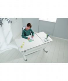 Biurko DIEGO GT kredowa biel 130 cm PAIDI w zestawie szufladą z organizerem PLUS