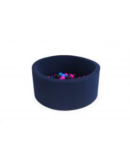 Basen z piłeczkami okrągły 90x40, jasnoszary MISIOO