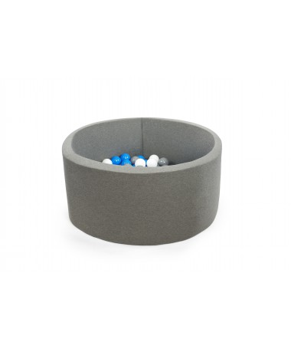 Suchy basen z piłeczkami okrągły 115x40, bordowy MISIOO