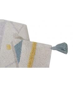 Dywan Azteca Natural Vintage Blue 100% bawełny, do prania w pralce, 120x160 cm, Lorena Canals