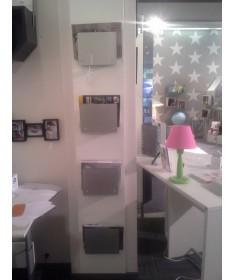 Regał na czasopisma i gry, montowany do ściany, grafitowe szkło, Rohr