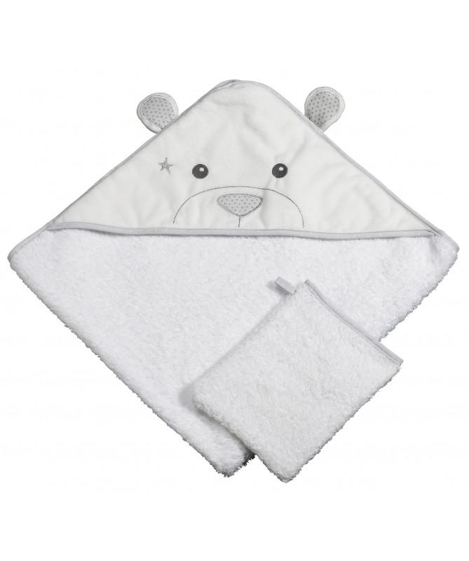 Ręcznik kąpielowy z flaneli, Celeste, SAUTHON