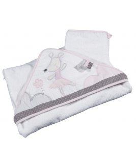 Ręcznik kąpielowy z flaneli, kolekcja Lilibelle Sauthon